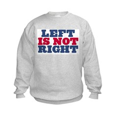 Left is not Right Kids Sweatshirt