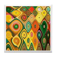 """Cascade 5"" Fractal Art Tile Coaster"