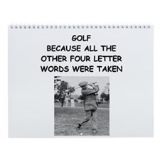 golf humor calendar Wall Calendar