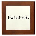twisted. Framed Tile