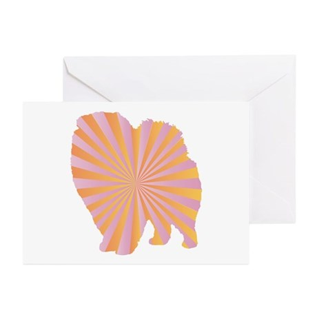 Pomeranian Rays Greeting Cards (Pk of 10)