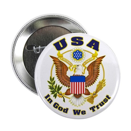"USA - In God We Trust 2.25"" Button (100 pack)"