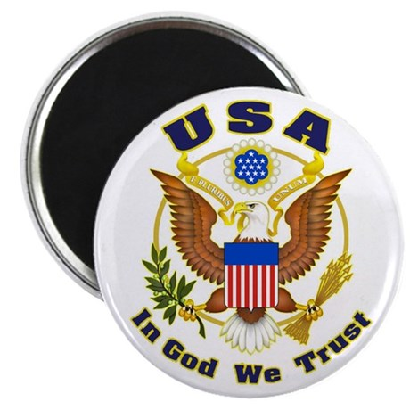 "USA - In God We Trust 2.25"" Magnet (10 pack)"