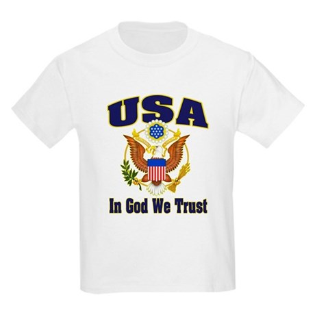 USA - In God We Trust Kids T-Shirt