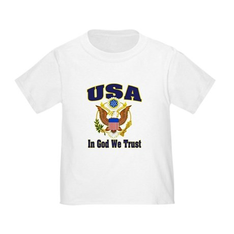 USA - In God We Trust Toddler T-Shirt