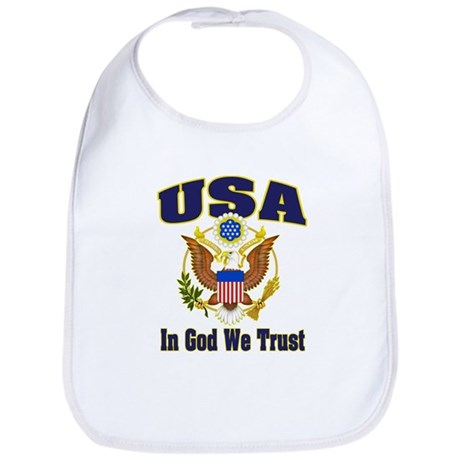 USA - In God We Trust Bib