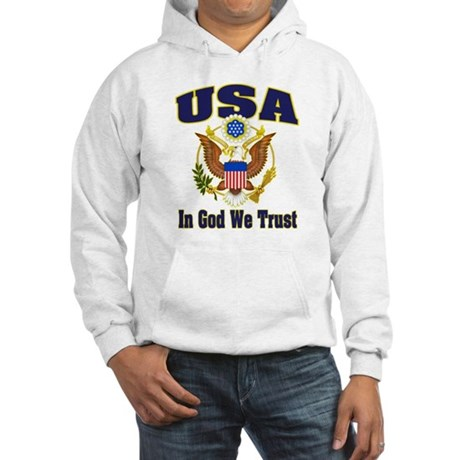 USA - In God We Trust Hooded Sweatshirt