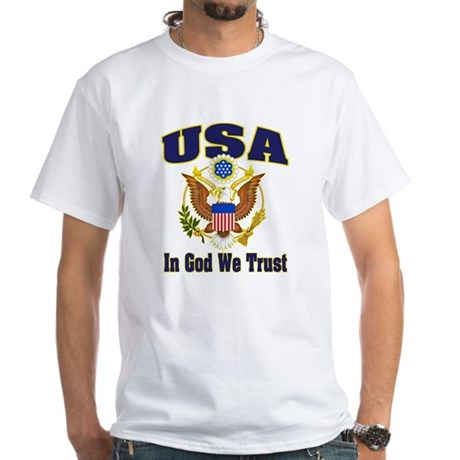 USA - In God We Trust White T-Shirt