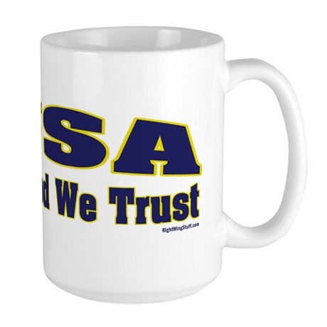 USA - In God We Trust Large Mug