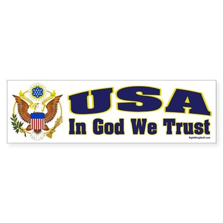 USA - In God We Trust Bumper Sticker