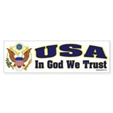 USA - In God We Trust Bumper Car Sticker