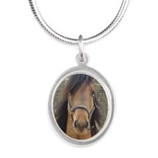Kiger Stallion Silver Oval Necklace