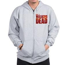 The Walking Dead Blood Logo Zipped Hoody