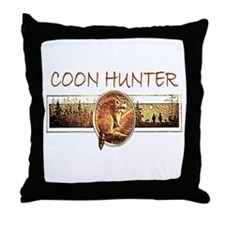 Coon hunter Throw Pillow
