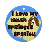 Love Welsh Springer Spaniel Ornament (Round)