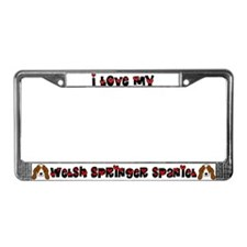Love Welsh Springer Spaniel License Plate Frame
