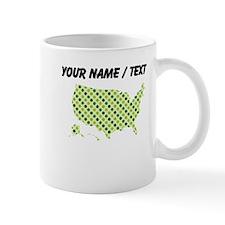 Custom USA Silhouette Irish Polka Dots Mugs