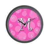 initial &quot;m&quot; Wall Clock