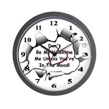 Anti-Valentine Wall Clock
