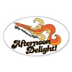 Afternoon Delight Oval Sticker