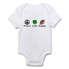 Peace Love Rugby Irish Infant Bodysuit
