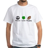 Peace Love Rugby Irish Shirt