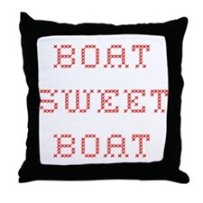 Boat Sweet Boat Cabin Pillow, red letter edition