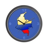 &quot;Colombia Bubble Map&quot; Wall Clock