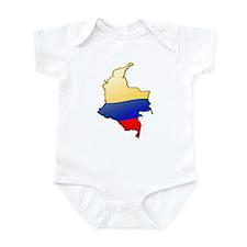 """""""Colombia Bubble Map"""" Infant Bodysuit"""
