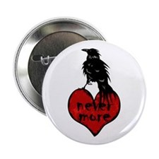 "Nevermore Raven 2.25"" Button (10 pack)"