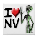 Funny Roswell alien Tile Coaster