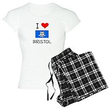 I Love Bristol Connecticut Pajamas
