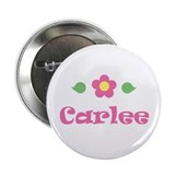 "Pink Daisy - ""Carlee"" Button"