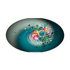 color Oval Car Magnet