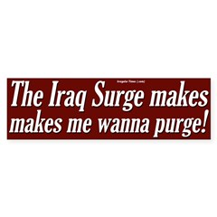 The Surge Makes Me Wanna Purge Sticker