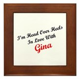 In Love with Gina Framed Tile