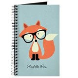 Hipster fox Journals & Spiral Notebooks