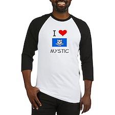 I Love Mystic Connecticut Baseball Jersey