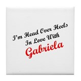 In Love with Gabriela Tile Coaster