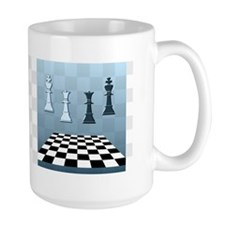 Chess Game Blue Mug