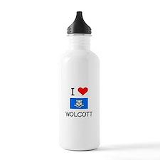 I Love Wolcott Connecticut Water Bottle