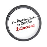 In Love with Francesca Wall Clock