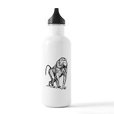 Baboon Sketch Sports Water Bottle