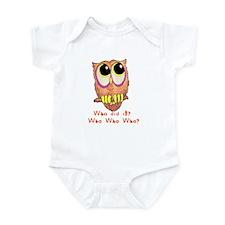 Owl Who did it? Infant Bodysuit