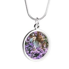 Teddy Roosevelt Terrier Silver Round Necklace