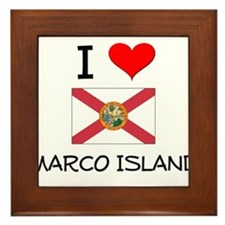 I Love MARCO ISLAND Florida Framed Tile