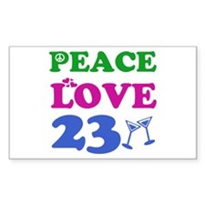 Peace Love 23 Decal