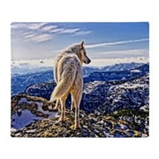Leader of the Pack - Wolf Throw Blanket