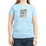Angry Fembot Army Women's Pink T-Shirt