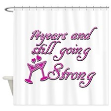 14th anniversary designs Shower Curtain